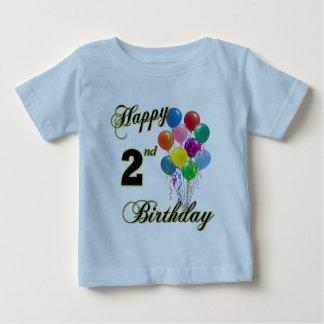 2do camisetas del cumpleaños y ropa felices del playera