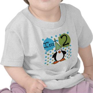 2do Camisetas y regalos del cumpleaños del pingüin