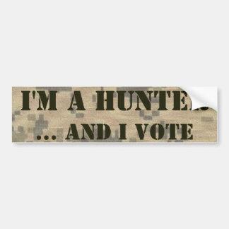 2do Cazador y votante de la enmienda Pegatina Para Auto