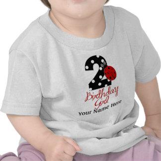 2do Chica del cumpleaños - mariquita - 2 señora Bu Camiseta