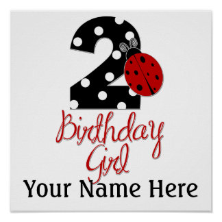 2do Chica del cumpleaños - mariquita - 2 señora Bu Póster
