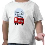 2do Coche de bomberos del cumpleaños Camiseta