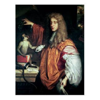 2do conde de Juan Wilmot de Rochester, c.1675 Tarjetas Postales