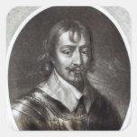 2do conde de sir Roberto Rich de Warwick Calcomania Cuadrada Personalizada