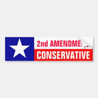 2do Conservador de la enmienda Pegatina De Parachoque