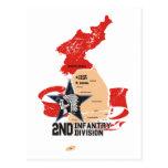 2do Corea del Sur de la división de infantería Tarjetas Postales