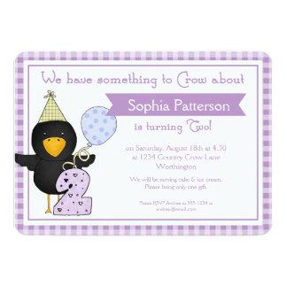 2do Cuervo del cumpleaños de las invitaciones de Comunicados Personalizados