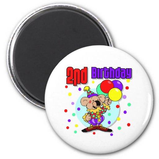 2do Cumpleaños de Australia del cumpleaños Imán Redondo 5 Cm