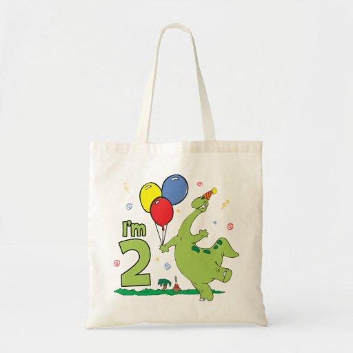 2do cumpleaños de Dino Bolsa Tela Barata