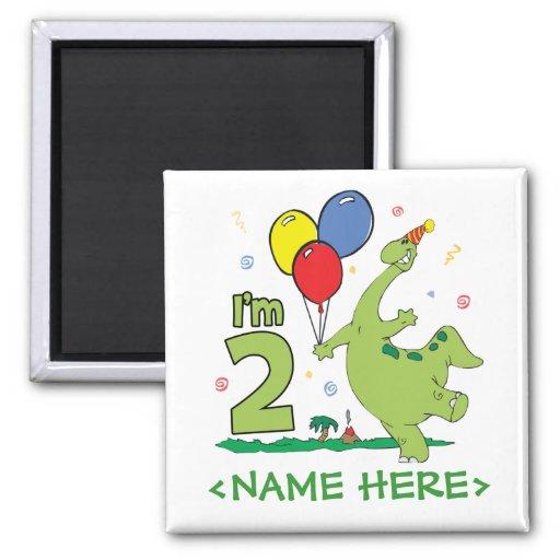 2do cumpleaños de Dino Imán Cuadrado