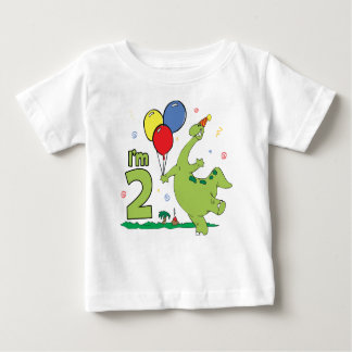 2do cumpleaños de Dino Playera De Bebé