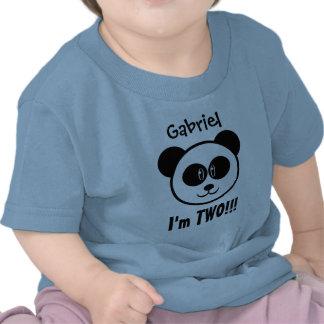 2do cumpleaños de dos años con la panda V03C Camisetas
