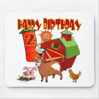 2do Cumpleaños de la granja del cumpleaños Tapetes De Ratones