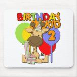 2do cumpleaños de la jirafa alfombrilla de ratones