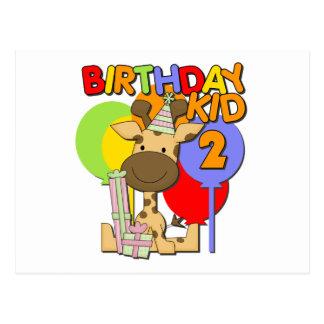 2do cumpleaños de la jirafa tarjetas postales