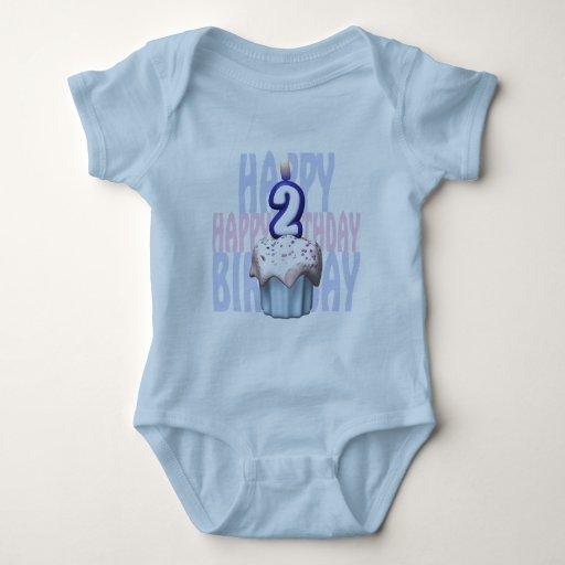 2do Cumpleaños de la magdalena del cumpleaños Camisetas