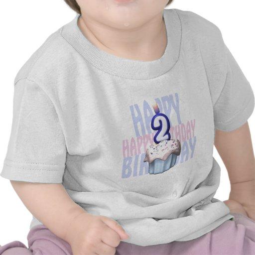 2do Cumpleaños de la magdalena del cumpleaños Camiseta