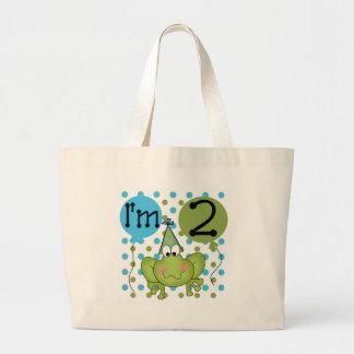 2do cumpleaños de la rana azul bolsas