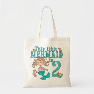 2do cumpleaños de la sirena bolsa tela barata
