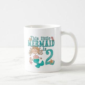 2do cumpleaños de la sirena taza clásica