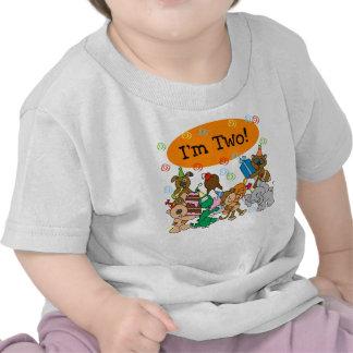 2do cumpleaños de los animales camisetas
