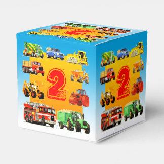 2do cumpleaños de los camiones grandes cajas para regalos de fiestas
