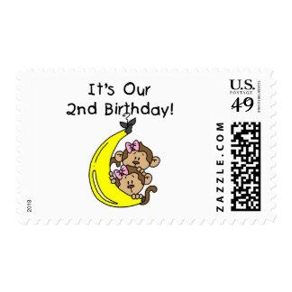 2do cumpleaños de los chicas de los monos gemelos franqueo