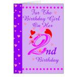 2do cumpleaños de los chicas felicitacion