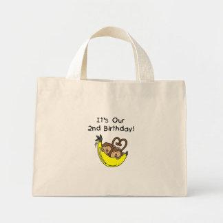 2do cumpleaños de los muchachos del mono gemelo de bolsas
