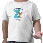2do cumpleaños de los pequeños niños del mono pers camiseta