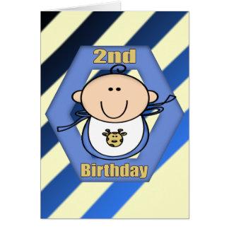2do cumpleaños del bebé tarjeta de felicitación