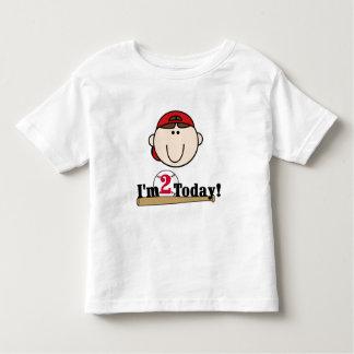 2do cumpleaños del béisbol trigueno del muchacho t shirt
