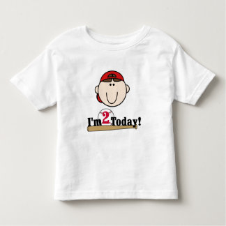 2do cumpleaños del béisbol trigueno del muchacho playera de bebé