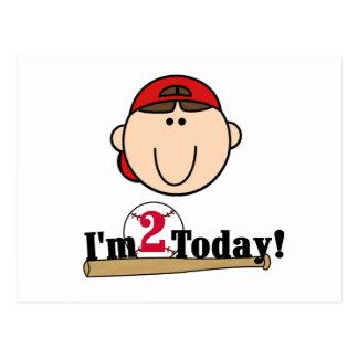 2do cumpleaños del béisbol trigueno del muchacho postales