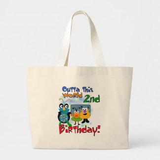 2do cumpleaños del espacio exterior bolsa de mano