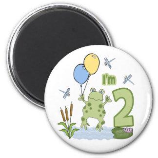 2do cumpleaños del Froggy Imán De Frigorifico