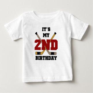 2do cumpleaños del hockey playera para bebé
