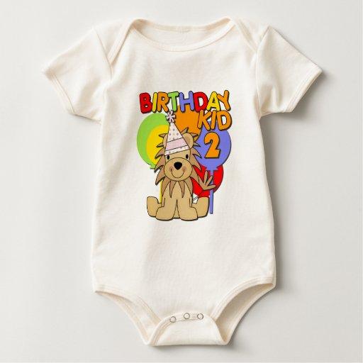 2do cumpleaños del león body para bebé