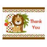2do cumpleaños del león lindo postal