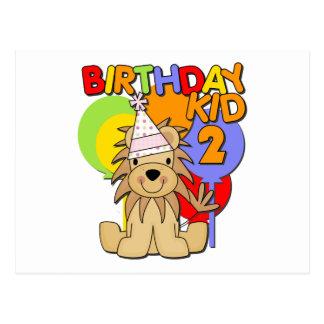 2do cumpleaños del león postal