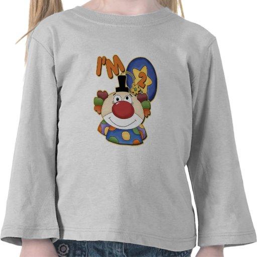 2do Cumpleaños del payaso del cumpleaños Camisetas