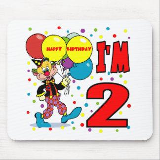 2do Cumpleaños del payaso del cumpleaños Tapete De Raton