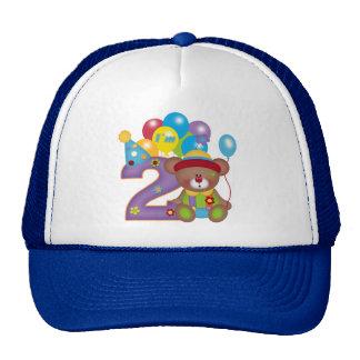 2do Cumpleaños del payaso del oso del cumpleaños Gorros
