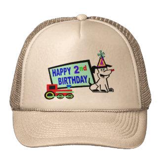 2do cumpleaños del perro y del tren gorros