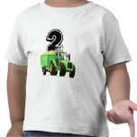 2do cumpleaños del tractor verde camiseta