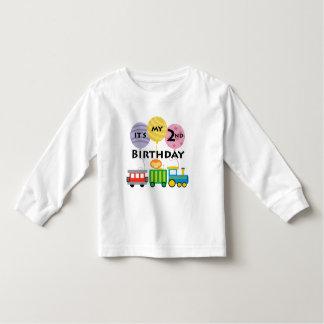2do Cumpleaños del tren del cumpleaños Playera De Bebé