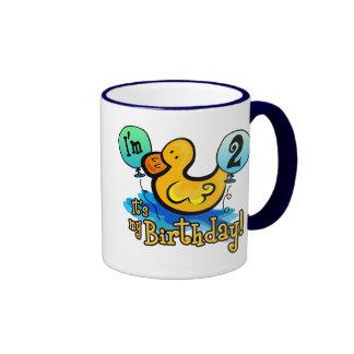 2do cumpleaños Ducky Tazas De Café