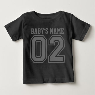 2do Cumpleaños (el nombre del bebé adaptable) Playera De Bebé