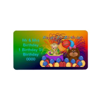 2do cumpleaños feliz etiquetas de dirección