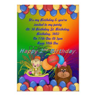"""2do cumpleaños feliz invitación 5"""" x 7"""""""